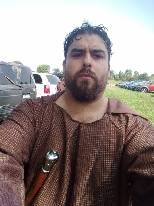 Sal indeed went as an armed monk. Apparently you can get Jesus into the soldier, but you can't take the soldier out of the man.